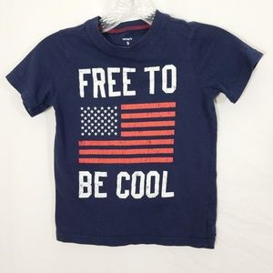 Carters FREE TO BE COOL American flag t-shirt USA